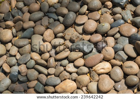 stones and pebble background - stock photo