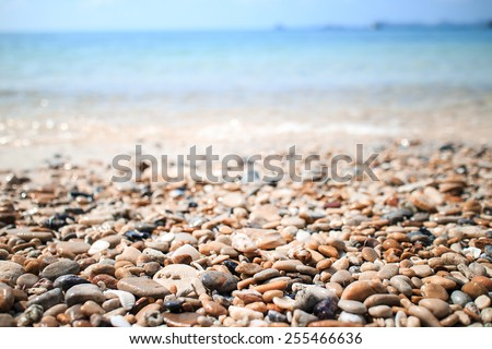 stones and sea - stock photo