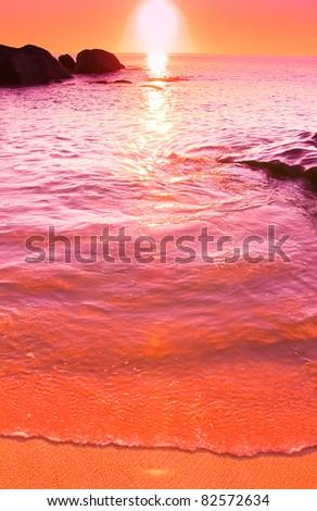 Stones Background Shore - stock photo