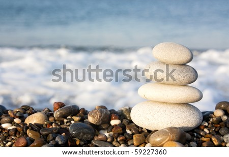 Stones by the sea