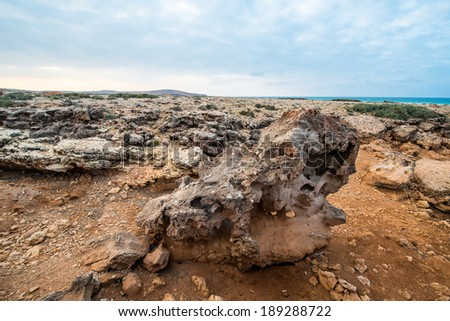 Stones, formations of the Socotra Island, Yemen