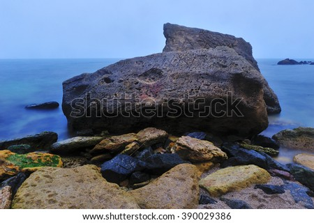 Stones in the beach, picture taken in Odessa on 27-28 of February 2016