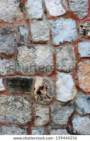 Stones in wall