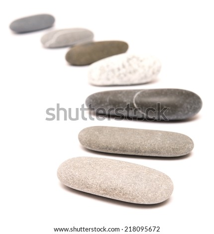 stones isolated on a white backgrounf