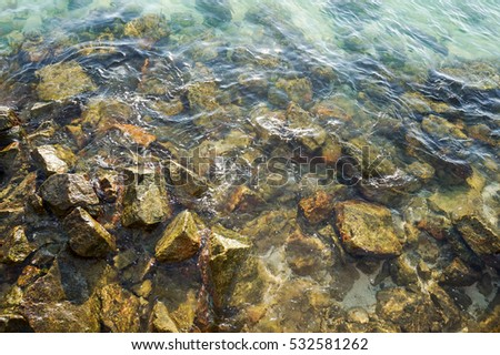 Stones on the water / Ly Son island,Quang Ngai,Viet Nam 7/2014