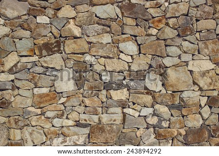 STONES WALL TEXTURE - stock photo