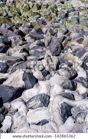 Stony Coastline - stock photo