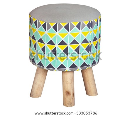 Stool for small kids isolated on white background - stock photo