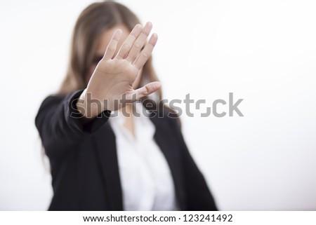 Stop! - stock photo