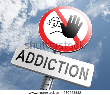 stop addiction drug and alcohol prevention rehabilitation warning sign pain killer or tranquilizer addict - stock photo