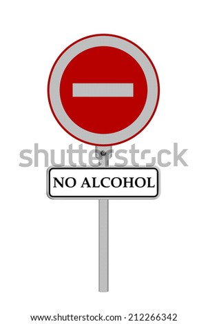 Stop Alcohol sign - isolated