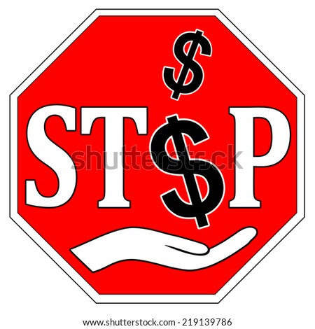 Stop Bribes. Concept sign to fight against bribery and corruption - stock photo