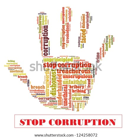 Stop corruption campaign - stock photo