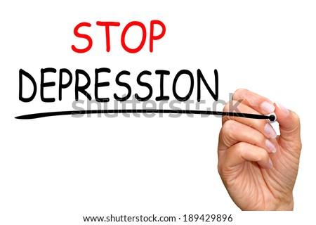 Stop Depression - stock photo