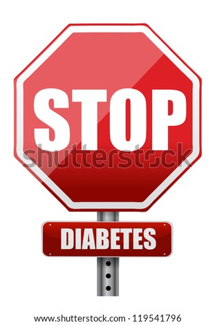 stop diabetes illustration design over a white background - stock photo