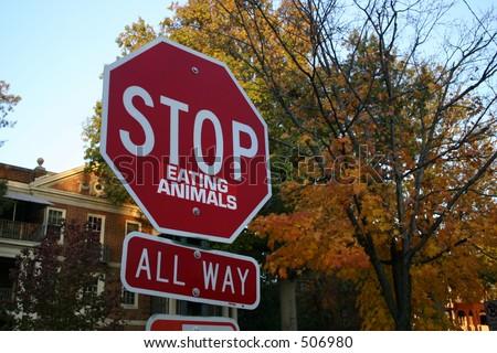 Stop Eating Animals - stock photo
