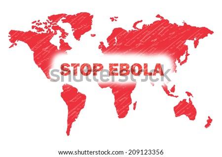 stop ebola virus - stock photo