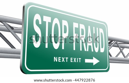 stop fraud bribe and political or police corruption money corrupt cyber or internet crime, 3D illustration, isolated on white background - stock photo