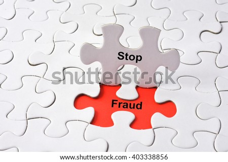 Stop Fraud on missing puzzle