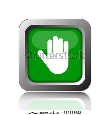 Stop icon. Internet button on black background. - stock photo