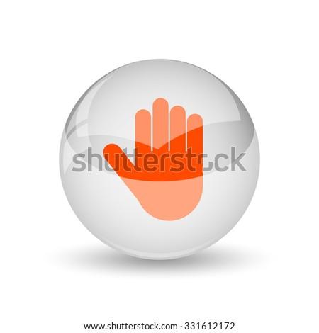 Stop icon. Internet button on white background. - stock photo