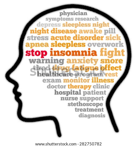 Stop insomnia in word cloud concept - stock photo