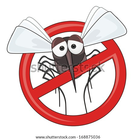 stop! mosquito - stock photo