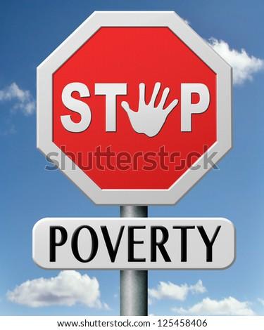 stop poverty - stock photo