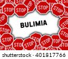 Stop sign and word bulimia - stock photo