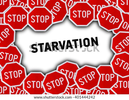 Stop sign and word starvation