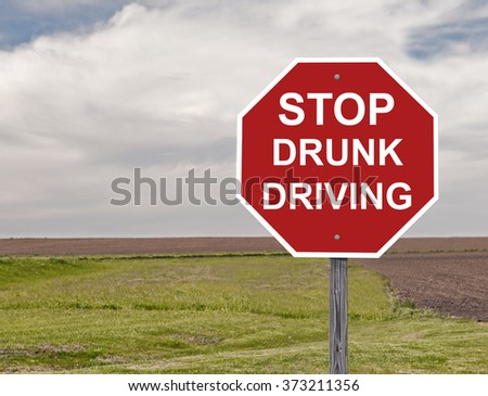 Stop Sign Asking To Halt Drunk Driving This is an addition to my sign set series - stock photo