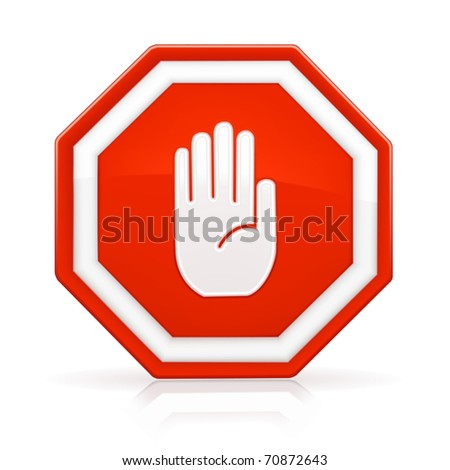 Stop Sign, Bitmap copy - stock photo