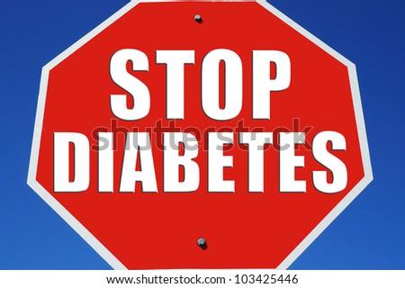 "Stop sign reading ""Stop Diabetes"" - stock photo"
