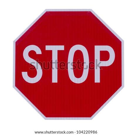 Stop traffic warning road sign - stock photo