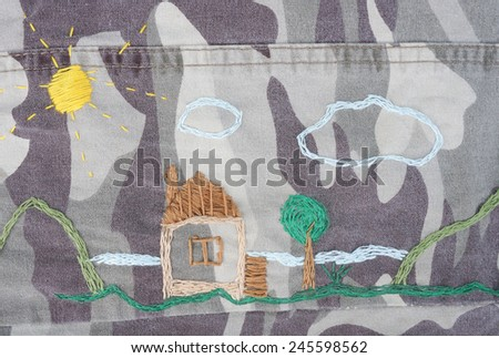 Stop war concept. Dreaming about peace - stock photo