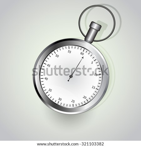 Stop watch illustration - stock photo