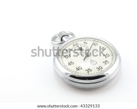 Stop-watch over white - stock photo