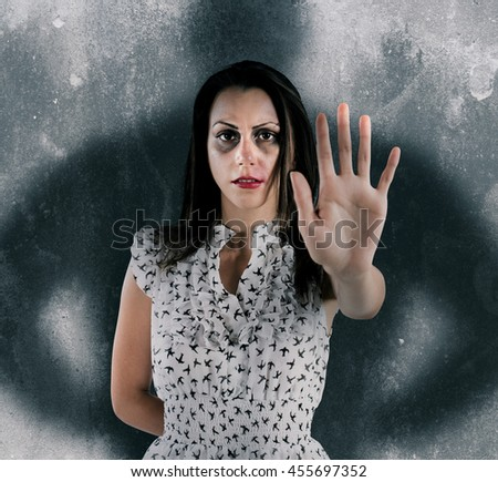 Stop woman violence - stock photo