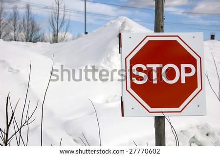 Stopsign - stock photo