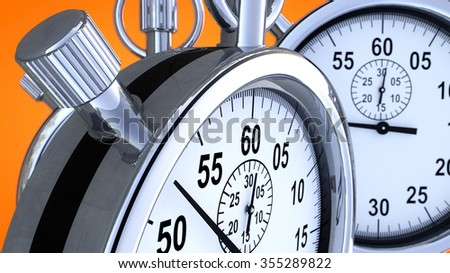 Stopwatch and time - stock photo
