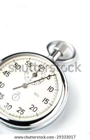 Stopwatch closeup isolated - stock photo