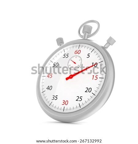 stopwatch 3d illustration - stock photo