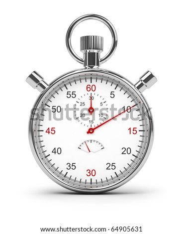 Stopwatch. 3d image. Isolated white background. Clipping path included. - stock photo