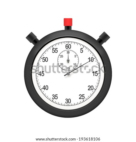 Stopwatch illustration - stock photo