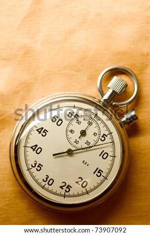 Stopwatch isolated - stock photo