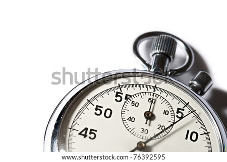 Stopwatch isolated on the white - stock photo