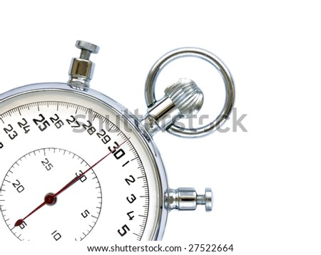 Stopwatch  isolated on the white background. - stock photo