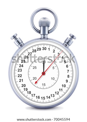 Stopwatch  isolated on the white background, clipping path included. - stock photo