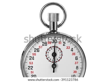 Stopwatch, isolated on white - stock photo