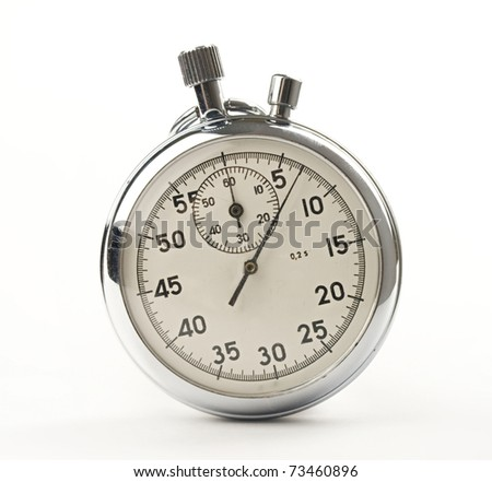 Stopwatch isolated on white - stock photo